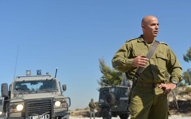Le colonel Ghassan Alian lors d'une patrouille à Jénine, en 2013. (Crédit :   Yossi Zeliger/FLASH90 ***)