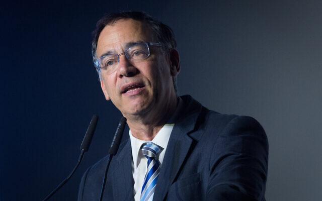 L'ancien procureur général de l'État, Shai Nitzan, s'exprime lors de la conférence Calcalist à Tel Aviv, le 31 décembre 2019. (Miriam Alster/FLASH90)