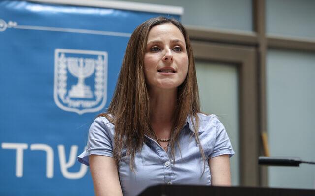 La ministre de l'Egalité sociale, Meirav Cohen à Jérusalem, le 18 mai 2020. (Crédit :  Flash90)