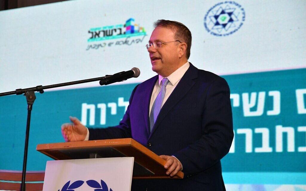 Le président entrant de l'Organisation juive mondiale Yaakov Hagoel. (Crédit : ZOA)