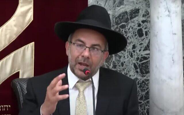 Yaakov Avitan. (Capture d'écran : YouTube)