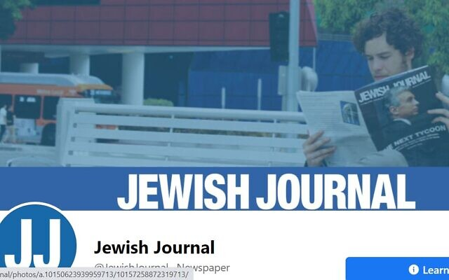 La page Facebook du Jewish Journal of Los Angeles. (Capture d'écran)