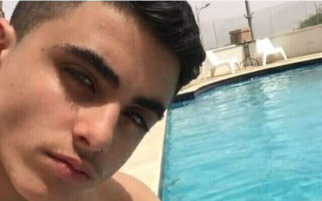 Itai Yitzhak, 17 ans, tué lors d'une rixe dans la nuit du 22 au 23 octobre 2020, qui aurait opposé des adolescents juifs et arabes, dans le village séptentrional de Muqeible (Autorisation)