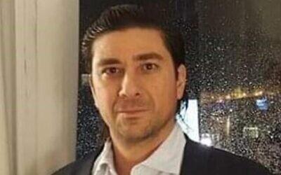 Aviad Moshe, accusé de tentative de meurtre sur sa femme Shira à Mitzpe Ramon, photo non datée. (Autorisation)