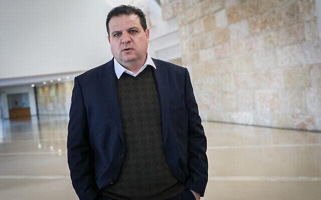 Le chef du parti de la Liste arabe unie, le député Ayman Odeh, à la Cour suprême de Jérusalem le 5 février 2020. (Yonatan Sindel/Flash90)