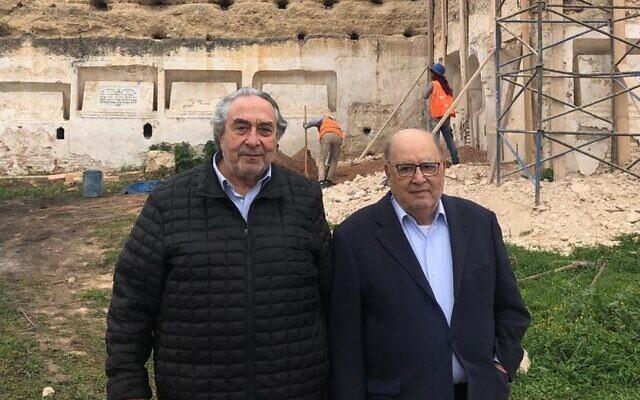 Serge Berdugo et Albert Devico. (Crédit : Communautés juives du Maroc / Facebook)