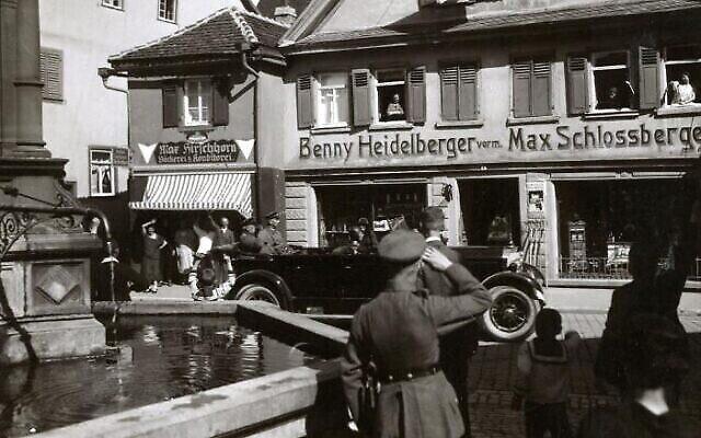 Le magasin de Benjamin Heidelberger à Bad Mergentheim, dans le sud de l'Allemagne, photo non datée (Autorisation)