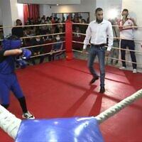 Cours de boxe féminine à Gaza, en novembre 2020. (Crédit ; AFPTV)