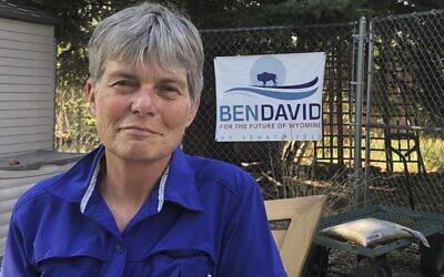 Merav Ben-David, candidate dans le Wyoming, le 10 août 2020. (Crédit : AP Photo/Mead Gruver)