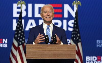 L'ancien vice-président Joe Biden, candidat démocrate à la présidence, s'exprime à Wilmington, dans le Delaware, le 4 novembre 2020. (Carolyn Kaster/AP)