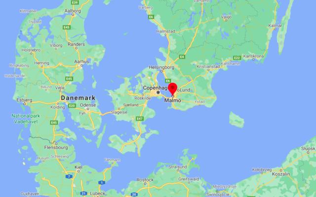 Malmö, en Suède. (Crédit : Google Maps)