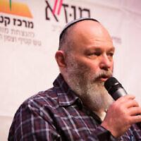 Effie Eitam s'exprime lors de la conférence du Gush Katif au musée de Tel Aviv, le 23 mars 2017. (Crédit : Yossi Zeliger/Flash90)