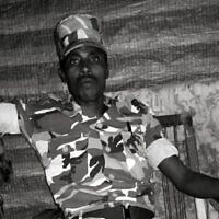 Une photo non datée de Germew Gete en uniforme de l'armée. (Autorisation de Markachew Woldie)