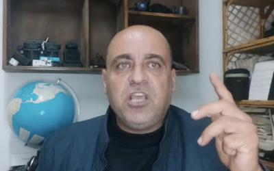 Nizar Banat, un Palestinien de Cisjordanie résidant à Hébron, qui a été arrêté par les services de sécurité de l'Autorité palestinienne pour avoir critiqué la reprise des liens avec Israël. (Capture d'écran : Facebook)
