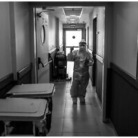 L'unité Covid d'un hôpital de Galilée. (Crédit : Shlomi Tova)