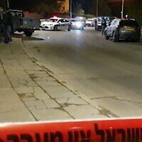La scène d'un incident survenu à Arad où un homme a tué un individu qui tentait de voler sa voiture, le 29 novembre 2020. (Capture d'écran/Walla)
