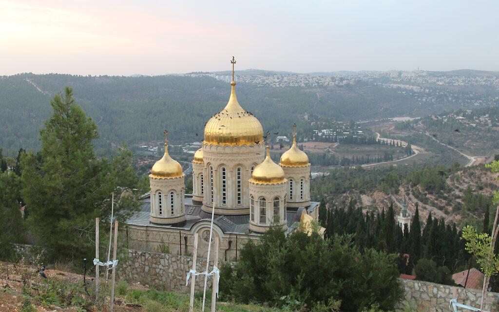 L'église orthodoxe russe à Ein Kerem, financée par la Russe Elizabeth Feyodorovna au début du 20e siècle. (Crédit : Shmuel Bar-Am)