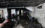 La cave d'un immeuble qui a brûlé à Kiryat Moshe, à Jérusalem, le 26 novembre 2020.