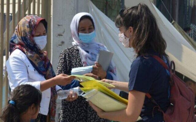 Une travailleuse humanitaire d'IsraAID au Guatemala. (Autorisation)