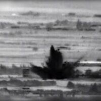 Images des frappes israéliennes sur des cibles iraniennes et syriennes dans le sud de la Syrie suite à une tentative d'attaque à l'explosif par des agents soutenus par l'Iran contre les troupes israéliennes sur le plateau du Golan, 18 novembre 2020 (Crédit ; armée israélienne)