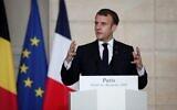 Le président français Emmanuel Macron à l'Elysée, le 1er décembre 2020. (Crédit : Thomas COEX / AFP)