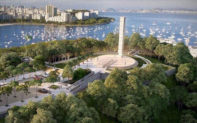 Un rendu virtuel du nouveau mémorial de la Shoah à Rio de Janeiro. (Crédit : Mémorial de la Shoah / Député Gerson Bergher via JTA)