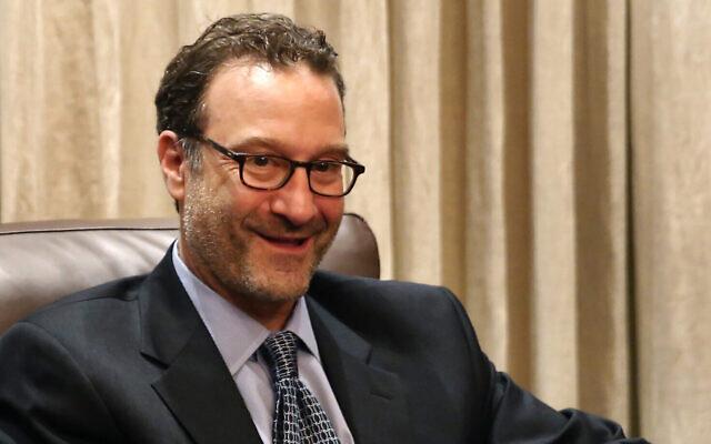 David Schenker, secrétaire d'État adjoint américain aux affaires du Proche-Orient, à Beyrouth, au Liban, le 9 septembre 2019. (Hussein Malla/AP)