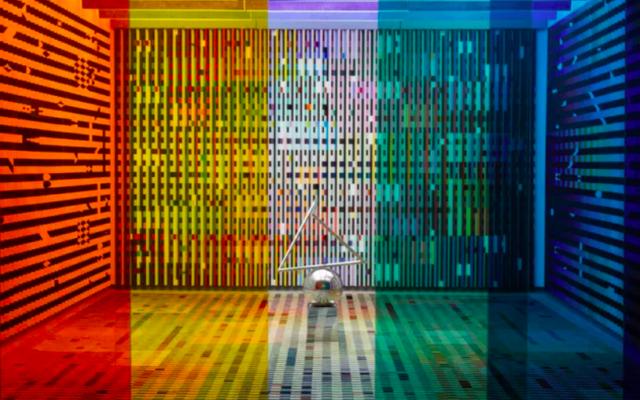 Le «Salon Agam» de l'artiste israélien Yaacov Agam, dans les collections du Centre Pompidou. (Crédit : AGAM / Hervé Veronese / Centre Pompidou)