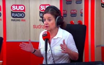 Elisabeth Lévy. (Crédit : Capture d'écran YouTube / Sud Radio)