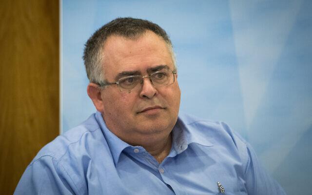 Le député du Likud David Bitan lors d'une commission à la Knesset, à Jérusalem, le 31 juillet 2019. (Yonatan Sindel/Flash90)