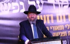 Le législateur du parti Shas Yoav Ben-Tzur à Tibériade, le 27 février 2020. (Crédit : David Cohen / Flash90)