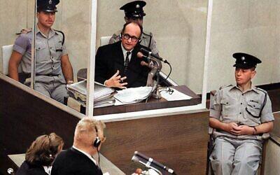 Du procès d'Adolf Eichmann, qui sera examiné dans 'Eichmann - le démon s'exprime', la première série documentaire produite par Tadmor Entertainment et la MGM (Autorisation : GPO)