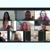 L'équipe de l'Université de Tel Aviv qui a participé au Championnat du monde de biologie synthétique 2020. (Crédit : Amis français de l'université de Tel Aviv)
