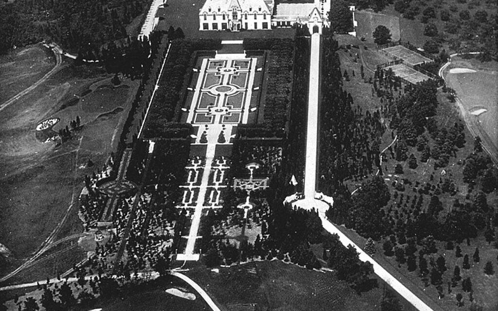 La propriété d'Otto Hermann Kahn vu du ciel. (Domaine public)
