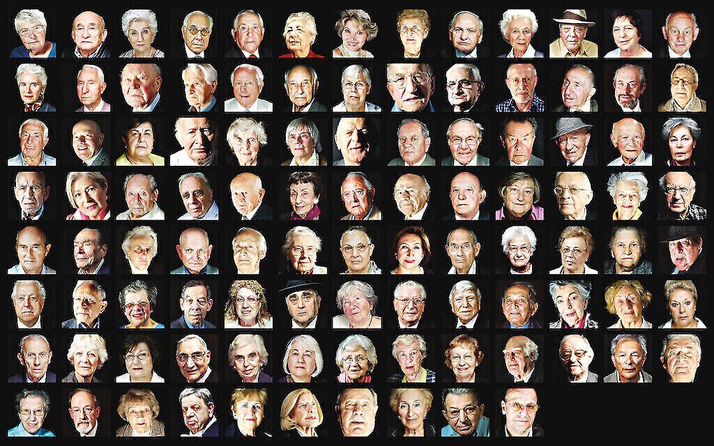 Les survivants de la Shoah qui figurent dans le livre de Matt Writtle, Portraits for Posterity. (Autorisation : Matt Writtle, via Jewish News)