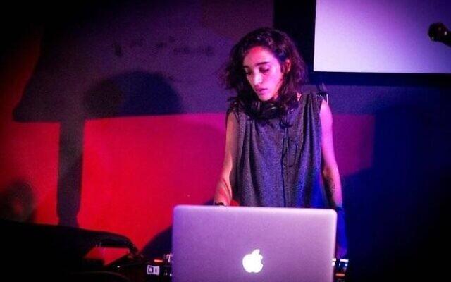 La DJ palestinienne SamaAbdulhadi. (Crédit : samaahadi.com)