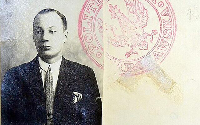"Wojciech Rychlewicz sur une photo d'archive. (Autorisation ""Israel Hayom"" via JTA)"