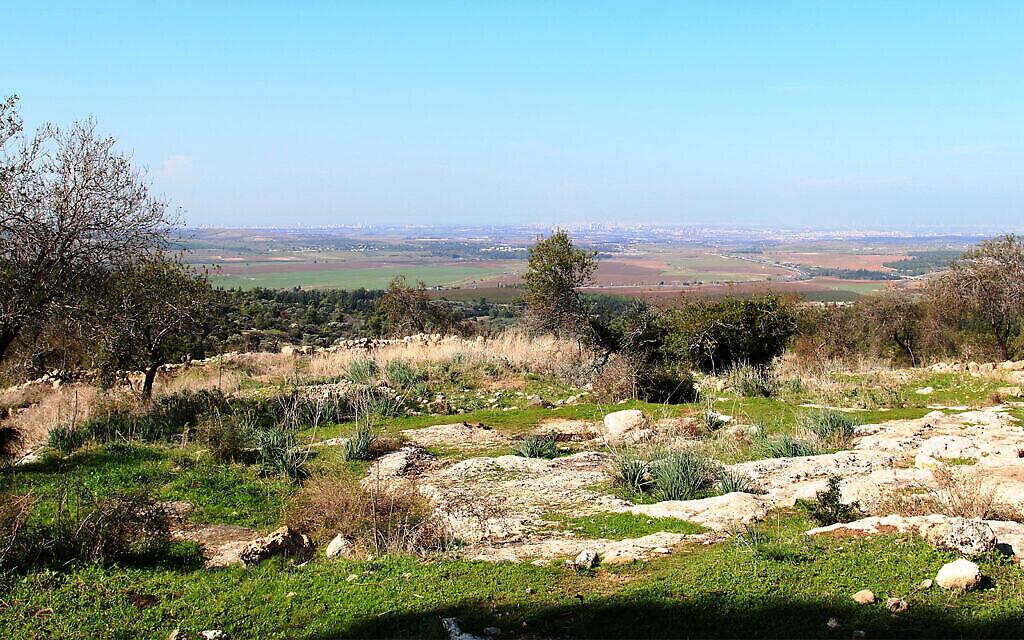 Une vue de la vallée d'Ayalon, qui aurait été le site d'anciennes batailles entre les Maccabées et les Grecs. (Crédit : Shmuel Bar-Am)