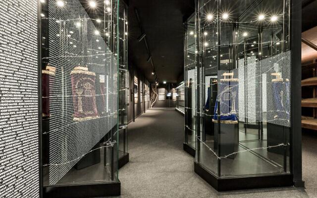 L'intérieur du musée de l'Holocauste de Porto, janvier 2021. (Autorisation : Communauté juive de Porto / via JTA)