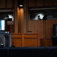 Kristen Clarke s'exprime lors des audiences de la commission judiciaire du Sénat sur la confirmation de la candidate à la Cour suprême Amy Coney Barrett, le 15 octobre 2020. (Crédit : Anna Moneymaker-Pool/Getty Images)