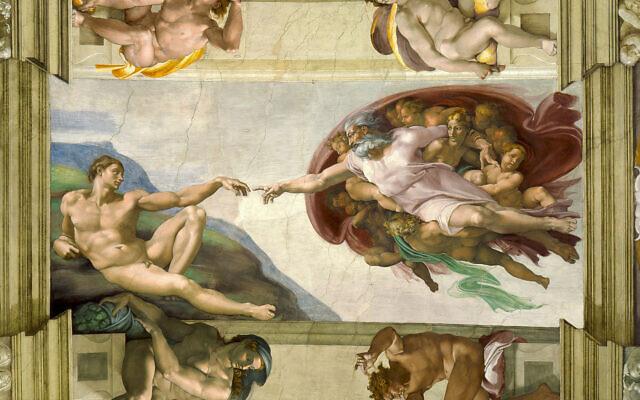 La Création d'Adam de Michel-Ange. (Domaine public)