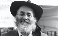 Le rabbin David Zaoui, émissaire Loubavitch à Neuilly-sur-Seine. (Crédit : Hassidout.org)