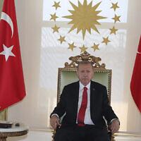 Le président turc Recep Tayyip Erdogan, à Istanbul, le mercredi 5 août 2020. (Présidence turque via AP, Pool)