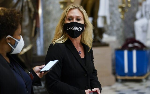 Marjorie Taylor Greene, au Capitol Hill à Washington, le 13 janvier 2021. (AP Photo / Susan Walsh)