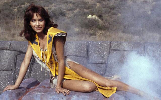 """Tanya Roberts incarne le personnage de Kiri dans """"Dar, l'invicinble"""", le 16 décembre 1981. (Crédit : AP Photo/Wally Fong)"""