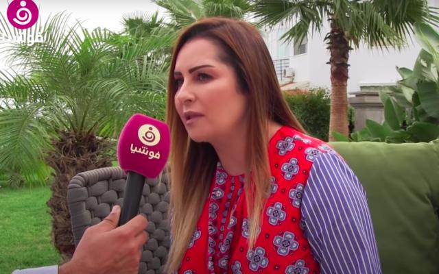La députée Amira Slim interviewée par la chaine Foochia. (Crédit : Foochia / Capture d'écran YouTube)