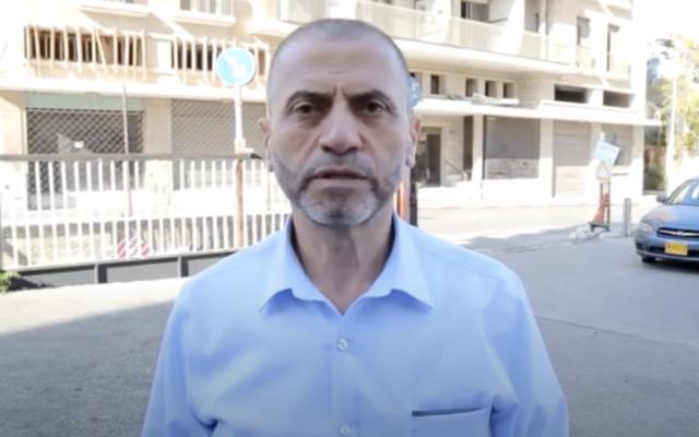 Suleiman Aghbariyah, ancien maire d'Umm al-Fahm. (Capture d'écran)