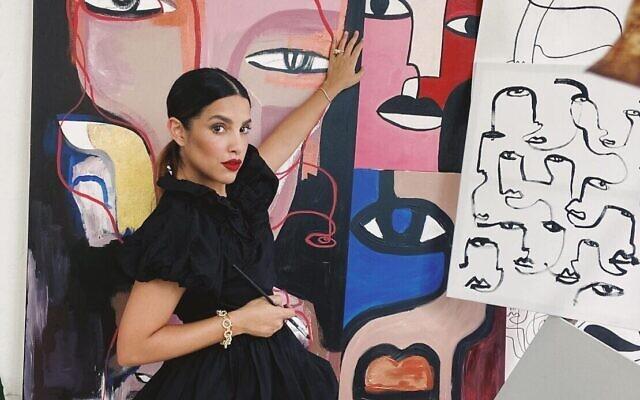 L'artiste Koketit, alias Shira Barzilay, a utilisé Instagram pour commercialiser son art et trouver des clients, notamment au cours des dix derniers mois de la pandémie de coronavirus. (Autorisation Shira Barzilay)