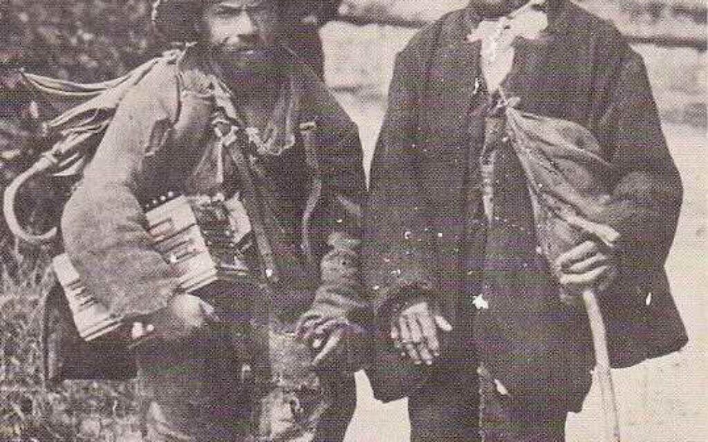 Des Yéniches pauvres à Muotathal en Suisse vers 1890. (Crédit : DR)