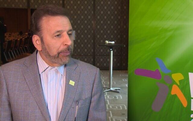 Mahmoud Vaezi. (Crédit : capture d'écran YouTube)